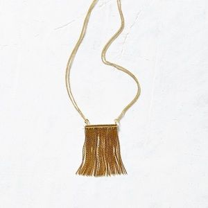 Urban Outfitters Metallic Fringe Necklace